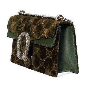 Gucci Bags - Gucci Small Dionysus Velvet Olive Shoulder Bag NWT